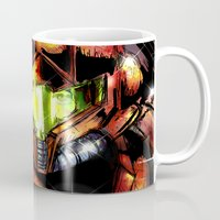 samus Mugs featuring Samus by Vincent Vernacatola