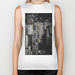 Yellow Cab from Above - Original #society6 exclusive Biker Tank