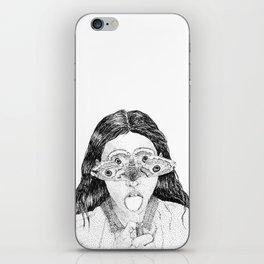 moth girl iPhone Skin
