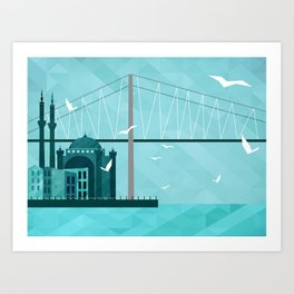City of Domes Art Print