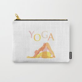 Yoga poses- people doing yoga silhouette- yoga lover Carry-All Pouch