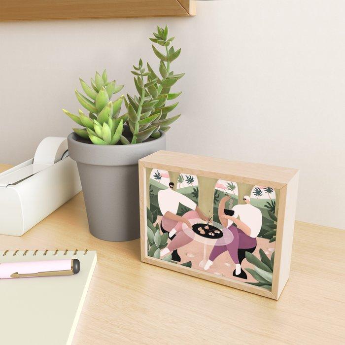 Brunch date Framed Mini Art Print