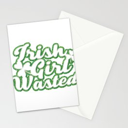 Irish Girl Wasted St Patricks Day Stationery Cards