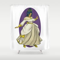 dress Shower Curtains featuring Party Dress by Samantha MacLean