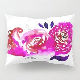Three Purple Christchurch Roses Pillow Sham
