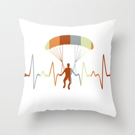 Paragliding Parachuting Lover  Throw Pillow