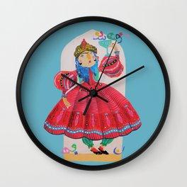 Qajar princess Wall Clock