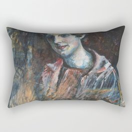 Wassily Kandinsky - Portrait Of Nina Kandinsky Rectangular Pillow