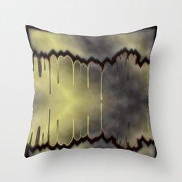 dark, sad, black, shiny, background, copy space, festive, golden, colored, subtly Throw Pillow