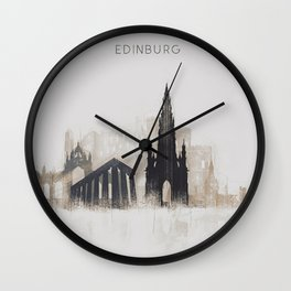 Edinburgh Sketchy Wall Clock