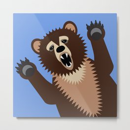Big Bad Bear Metal Print