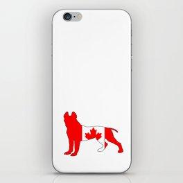 "Pit Bull Terrier ""Canada"" iPhone Skin"