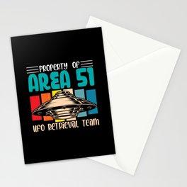 Property of Area 51 UFO Retrieval Team shirt Stationery Cards