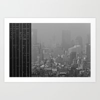gotham Art Prints featuring Gotham by Cameron Booth