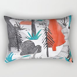 And the Children, They Know - Orange Rectangular Pillow