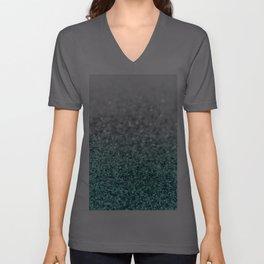 Silver Teal Ocean Glitter Glam #1 #shiny #decor #art #society6 Unisex V-Ausschnitt