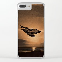 Tornado at Sunset (Digital Painting) Clear iPhone Case