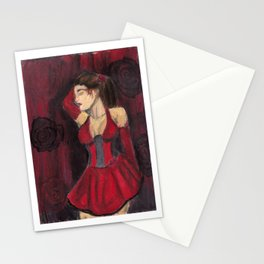 Rose Red Lovely Stationery Cards