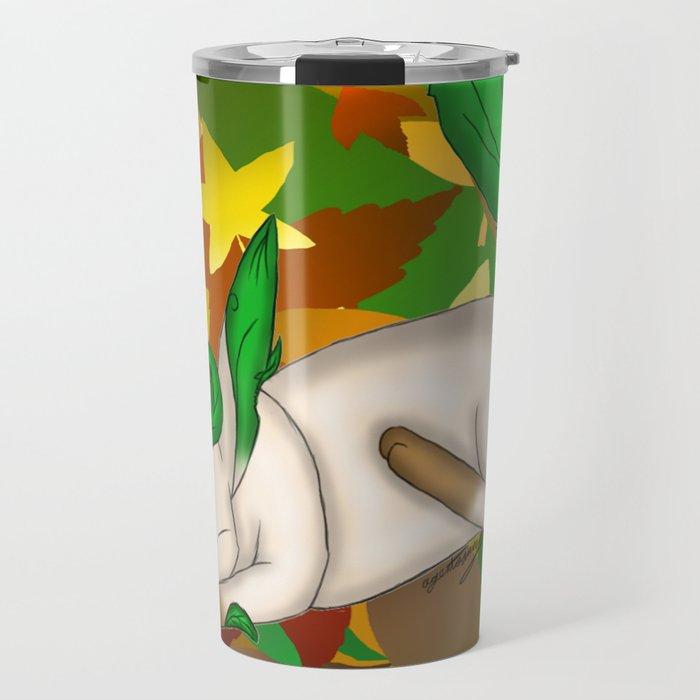 Playing with Leaves Travel Mug