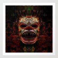 demon Art Prints featuring Demon by Zandonai