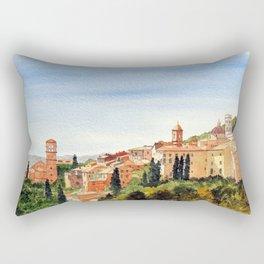 Assisi Italy with Basilica Of San Francesco Rectangular Pillow