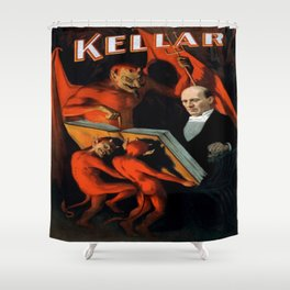 Vintage poster - Kellar the Magician Shower Curtain