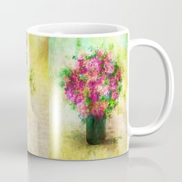 Roses and Wildflowers in Mason Jar Coffee Mug