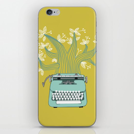 The Typing Tree Blue iPhone Skin