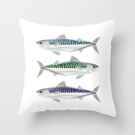 Colourful Mackerel Throw Pillow