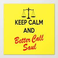 better call saul Canvas Prints featuring Better Call Saul by DeBUM