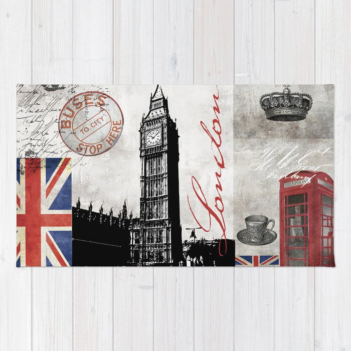 London Collage Rug