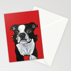 Bobo the Boston terrier Stationery Cards