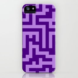 Lavender Violet and Indigo Violet Labyrinth iPhone Case