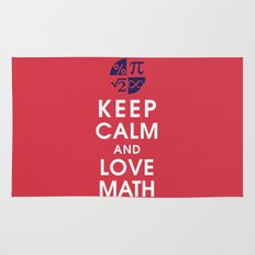 Keep Calm and Love Math Rug