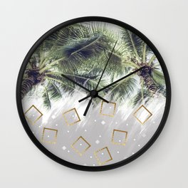 Palm trees and rhombuses Wall Clock
