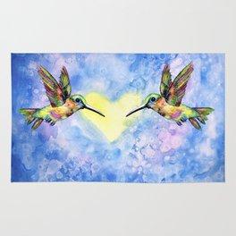 Hummingbirds in Love Rug