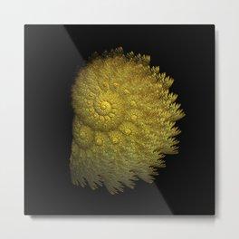3D Fractal Seashell Metal Print