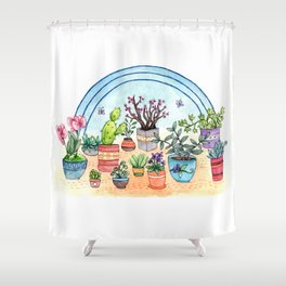 Household Plants Shower Curtain