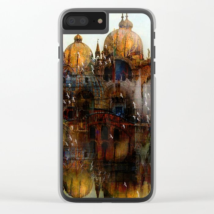 Somewhere in Venice Clear iPhone Case