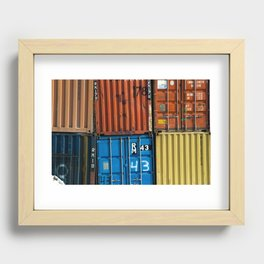Pointe St. Charles Shipping Closeup Recessed Framed Print