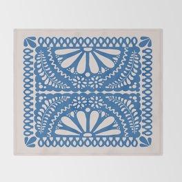 Fiesta de Flores Blue Throw Blanket