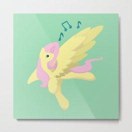 Sing Along Fluttershy Metal Print