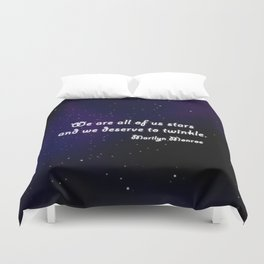 We are all of us Stars Duvet Cover