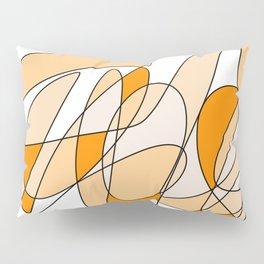 Orange Swirl Pillow Sham
