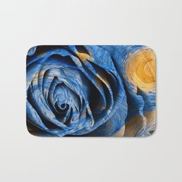 Starry Night Rose Bath Mat