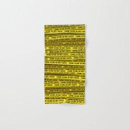 Crime scene / 3D render of endless crime scene tape Hand & Bath Towel