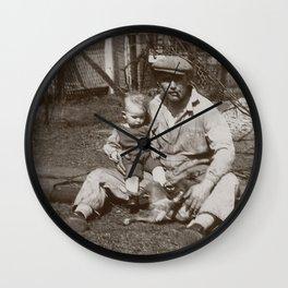 Blue Collar Dad - A Vintage Photo Wall Clock