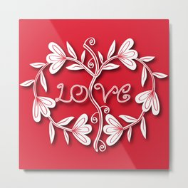 Floral Love Metal Print