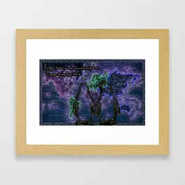 Penguins in Love Framed Art Print