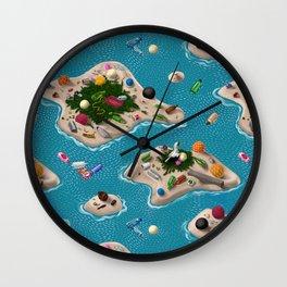 Trash Islands Wall Clock
